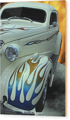 Smokin' Hot - 1938 Chevy Coupe Wood Print by Betty Northcutt
