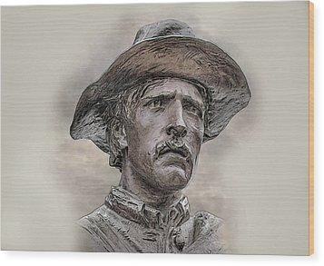 Son Of The Confederacy Portrait Wood Print by Randy Steele