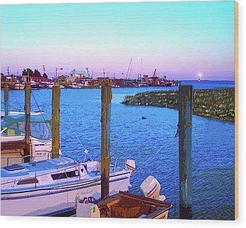 Southport Lights Wood Print by Garland Johnson