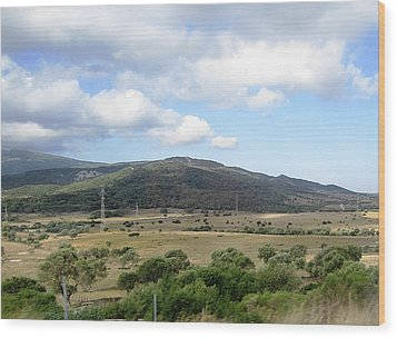 Spain Country Side Near Costa Del Sol Wood Print by John Shiron