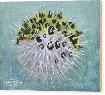 Spike Wood Print by Arleana Holtzmann