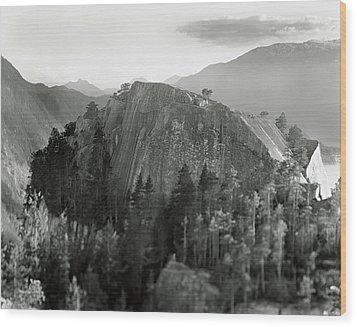 Stawamus Chief, Squamish, British Columbia, Canada, Tilt-shift Wood Print by Brian Caissie