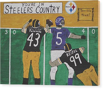 Steelers Country Wood Print by Jeffrey Koss