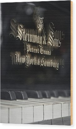 Steinway Original Grand Wood Print by Vicki Ferrari