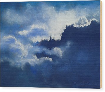 Stormy Sky Wood Print by Lorraine McFarland
