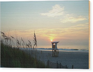 Sunrise Over Wrightsville Beach Wood Print