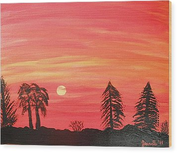 Sunset Glow Wood Print by Jeannie Atwater Jordan Allen