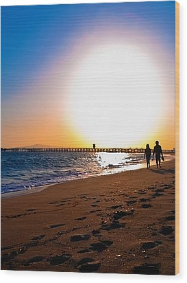 Sunset Romance Wood Print