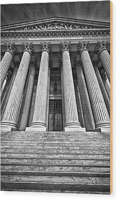 Supreme Court Building 10 Wood Print by Val Black Russian Tourchin
