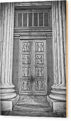 Supreme Court Building 12 Wood Print by Val Black Russian Tourchin