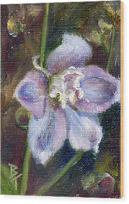 Wood Print featuring the painting Sweet Bloom Aceo by Brenda Thour