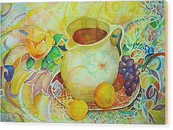 Wood Print featuring the painting Sweet Tea by Anne Dentler