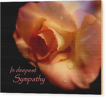 Sympathy Rose Wood Print by Cindy Wright