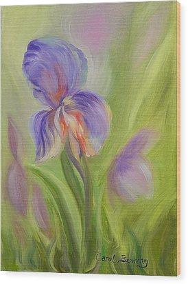 Tennessee Iris Two Wood Print by Carol Berning