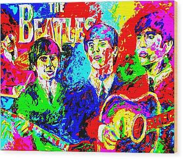 The Beatles Wood Print by Mike OBrien