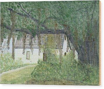 The Cottage-st. Simons Is. Ga Wood Print by Diane Frick