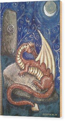 The Dragon Stone Wood Print