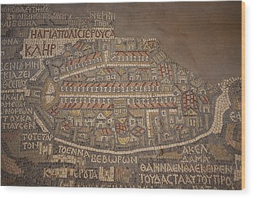 The Earliest Known Map Of The City Wood Print by Taylor S. Kennedy