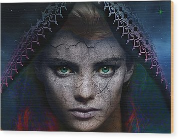 Wood Print featuring the digital art The Eye Of The Soul by Shadowlea Is