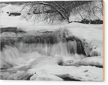 The Frigid Niagara Wood Print by Timothy McIntyre