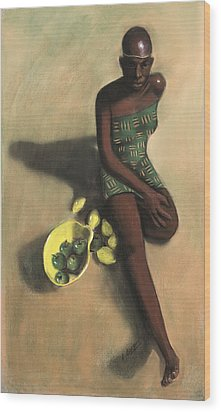 The Fruit Seller Wood Print by L Cooper