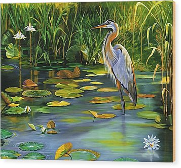 The Heron Wood Print by Beth Smith
