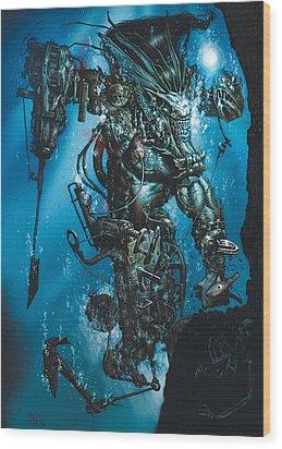 The Kraken Wood Print by Paul Davidson