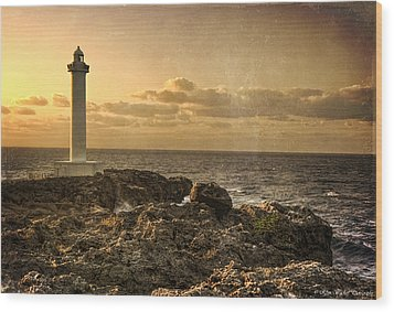 The Lighthouse Wood Print by Ryan Wyckoff
