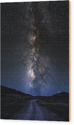 The Milky Road Wood Print by Larry Landolfi
