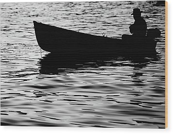 Wood Print featuring the photograph The Old Fishermen by Pedro Cardona