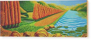 The Path Wood Print by Barbara Stirrup