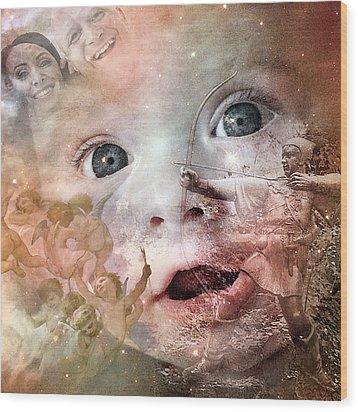 The Prophet On Children Wood Print by Barry Novis