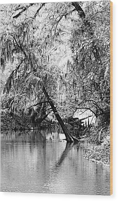 The River Filtered Wood Print