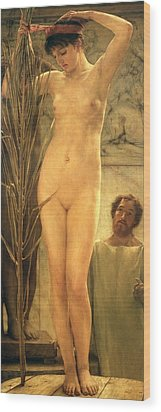 The Sculptor's Model Wood Print by Sir Lawrence Alma-Tadema