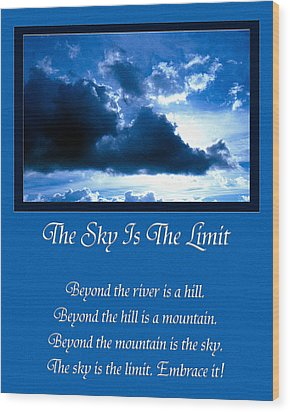 The Sky Is The Limit Wood Print by Andee Design