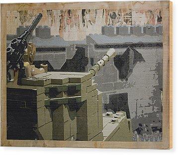 The Storming Of Berlin Wood Print by Josh Bernstein