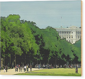 The Washington Dc Mall Wood Print by Russ Harris