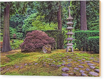 This Is Oregon State No.23 - Sea Of Rocks Wood Print by Paul W Sharpe Aka Wizard of Wonders
