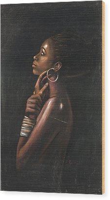 Tia Wood Print by L Cooper