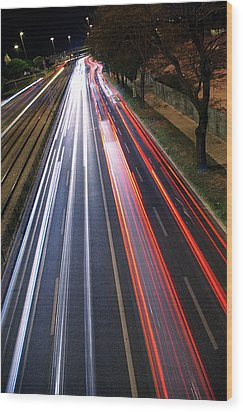 Traffic Lights Wood Print by Carlos Caetano