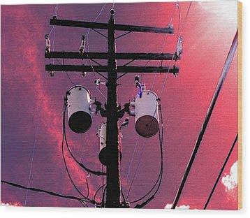 Transformers 3 Wood Print by Beth Akerman