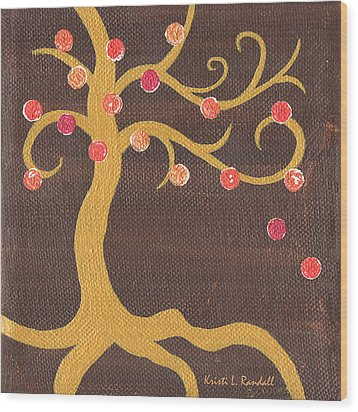 Tree Of Life - Left Wood Print by Kristi L Randall
