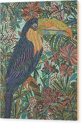 Tropican Wood Print by Erika Pochybova