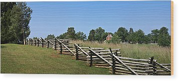 View Of Clover Hill Tavern Appomattox Court House Virginia Wood Print by Teresa Mucha