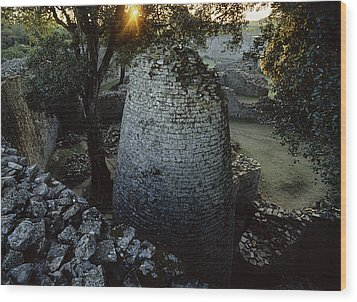 View Of The 8th Century Conical Tower Wood Print by James L. Stanfield