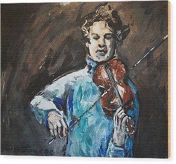 Violinist1 Wood Print by Denise Justice
