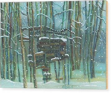 Waiting For Spring Wood Print by Anne Havard