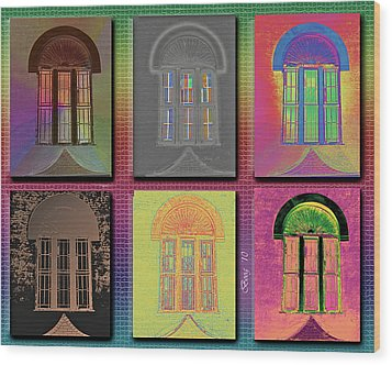 Wood Print featuring the photograph Wall Of Windows by Larry Bishop