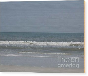Watching The Waves Wood Print by Barb Montanye Meseroll
