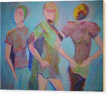We Three Wood Print by Mary Schiros